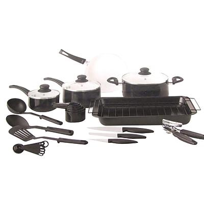 Gibson 27 Piece Non Stick Cookware Set, Black/White (72715.27) 2491674