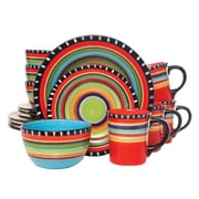 Gibson Elite Stoneware Pueblo Springs 16 Piece Dinnerware Set, 91267.16