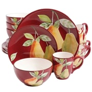 Gibson Home 97977.16 Fruitful Pears 16 Piece Dinnerware Set