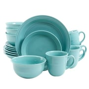 Gibson Mainstays Aqua Rainforest 16 Piece Stoneware Dinnerware Set (MS14-036-306-10/1)