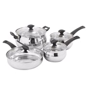 Oster Ingleton 8 Piece Stainless Steel Cookware Set, Silver (109482.08)