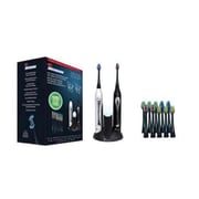 Pursonic® S452BS Dual Handle Sonic Toothbrush with UV Sanitizer, Black/Silver (S452BS)