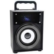 QFX® 5 W Bluetooth Speaker with FM Radio, Gray (BT-120)