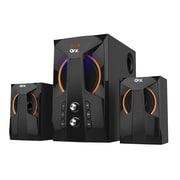 QFX® BT-208 12 W 2.1 Channel Bluetooth Speaker System, Black