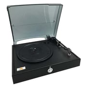 QFX® 3-Speed Vinyl Turntable with Record Player, Black (Turn-80)