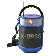 Supersonic® SC-1083BT IQ Sound® Bluetooth Portable FM Radio, Blue