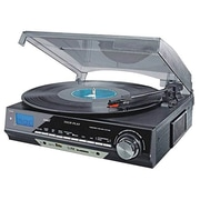 Techplay 3-Speed Turntable with AM/FM Stereo Radio (ODC18-BS)