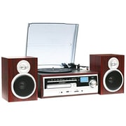 Techplay 3-Speed Turntable with CD/MP3/Cassette/SD Card/USB Player, Wood (ODC28SPK-WD)