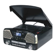 Techplay 3-Speed Turntable with Programmable MP3/CD Player, Black (ODC35-BK)