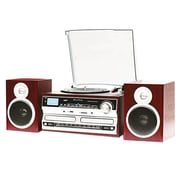 Techplay 3-Speed Turntable with High Power NFC Bluetooth System, Wood (ODCR238WD)