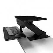 Atdec® Sit-to-Stand Height Adjustable Workstation with Desk Clamp Attachment, Black (A-STSCB)