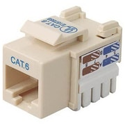 Belkin™ Cat6 RJ45 Keystone Jack, Ivory (R6D026-AB6-IVO)