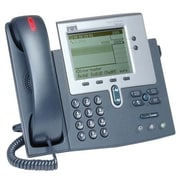 Cisco™ CP-7940G-RF 2 x Total Line Refurbished Unified IP Phone, Dark Gray/Silver