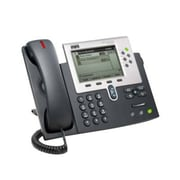 Cisco™ CP-7961G-RF 6 x Total Line Refurbished Unified IP Phone, Dark Gray/Silver