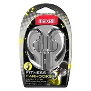Maxell® Fitness Over-the-Ear Earhook with Mic, Silver (EH-131S)