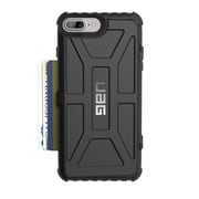 Urban Armor Gear Trooper Series Card Case for Apple iPhone 7 Plus/6S Plus, Black (IPH7/6SPLS-T-BK)