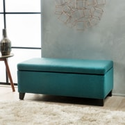 Home Loft Concepts Connie Ottoman; Dark Teal