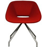 B&T Design Red Swivel Eco Leather Side Chair