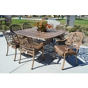 K B Patio Sicily 9 Piece Dining Set w/ Cushions