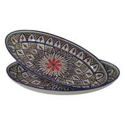 Le Souk Ceramique Tabarka Stoneware Oval Platter (Set of 2)