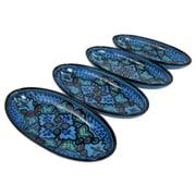 Le Souk Ceramique Sabrine Stoneware Oval Platter (Set of 4)