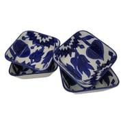 Le Souk Ceramique Jinane 12 oz. Square Stoneware Pasta/Salad Bowl (Set of 4)
