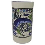 Le Souk Ceramique Aqua Fish Stoneware Utensil/Wine Holder
