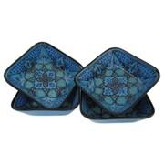 Le Souk Ceramique Sabrine 12 oz. Square Stoneware Pasta/Salad Bowl (Set of 4)