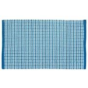 HFLT Tattersall Plaid Hand-Woven Blue Area Rug