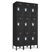 Jorgenson Lockers 3 Tier 3 Wide Assembled Locker