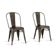 Laurel Foundry Modern Farmhouse Drummond Rust Metal Dining Chair (Set of 2) (Set of 2)