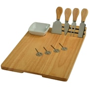 Picnic At Ascot Windsor 10 Piece Rubberwood Cheese Board Set