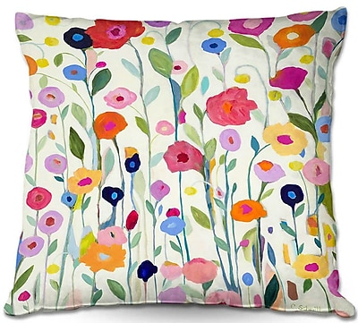 DiaNocheDesigns Carrie Schmitt Gentle Soul Flowers Throw Pillow; 16'' H x 16'' W x 4'' D WYF078279687211