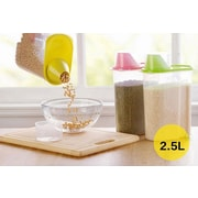 Basicwise Plastic Food Saver Kitchen Food Cereal Storage Container (Set of 3)