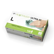 Medline Aloetouch Ultra IC Synthetic Exam Gloves - CA Only - Large - 100/Box (6MDS195076)