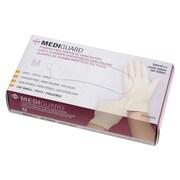 Medline MediGuard Synthetic Exam Gloves - CA Only - Medium - 100/Box (6MSV602)