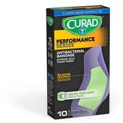 "Curad 2""X4"" Performance Series Antibacterial Bandages 10ct (CUR5018)"