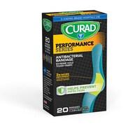 "Curad 1""X3.25"" Performance Series Antibacterial Bandages 20ct (CUR5020)"