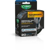 "Curad Performance Series Kinesiology Tape - 2""x10"" - Blue Design (CUR5063B)"