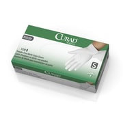 Curad White Nitrile Exam Gloves - Powder-Free - Small - 100/Box (CUR8414)