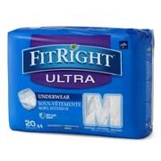"Medline FitRight Ultra Protective Underwear - Medium - 28""-40"" - 20/Bag (FIT23005A)"