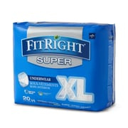 """Medline FitRight Super Protective Underwear - X-Large - 56""""-68"""" - 20/Bag (FIT33600A)"""