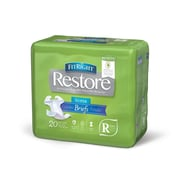 """Medline FitRight Restore Super Briefs - Regular - 40""""-50"""" - 20/Bag (FITRESTORERG)"""
