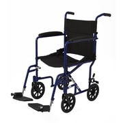 "Medline Aluminum Transport Chair with 8"" Wheels - Blue - Basic (MDS808200ABE)"