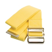 """Medline Washable Cotton Material Gait Belts - Fall Management - Yellow - 72"""" (MDT821203YL)"""