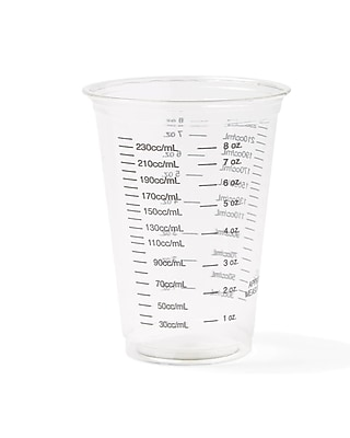 Medline Graduated Disposable Paper Drinking Cups - 10oz - Plastic - 50/Pack (NON03010BAR) 1606231