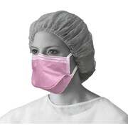 Medline Fluid-Resistant Chamber-Style Face Masks - Purple - 50/Box (NON27382FR)