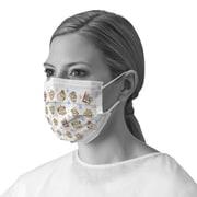 Medline Pediatric Print Procedure Adult Face Mask - Buddy Print - 50/Box (NONBUDDYEL)