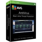AVG® Antivirus 2017 Software, 3 User, Windows (AV17T12EN3)