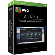 AVG® Antivirus 2017 Software, 3 User, Windows (AV17T24EN3)